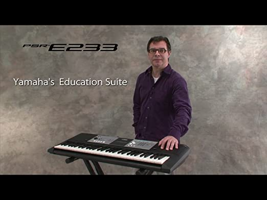 Amazon.com: Yamaha PSR-E233 61-Key Premium Portable Keyboard Package with Headphones, Stand and Power Supply: Musical Instruments