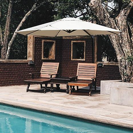 Mefo garden Cantilever - Paraguas para Patio (rotación de 360 Grados, con Base Cruzada): Amazon.es: Jardín