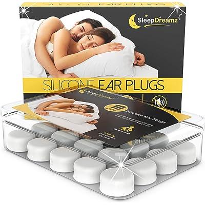Tapones oidos dormir silicona SleepDreamz® – 10 pares de tapones oidos que bloquean los ruidos – Protección contra los ronquidos y otros ruidos molestos gracias a estos tapones oidos ruido