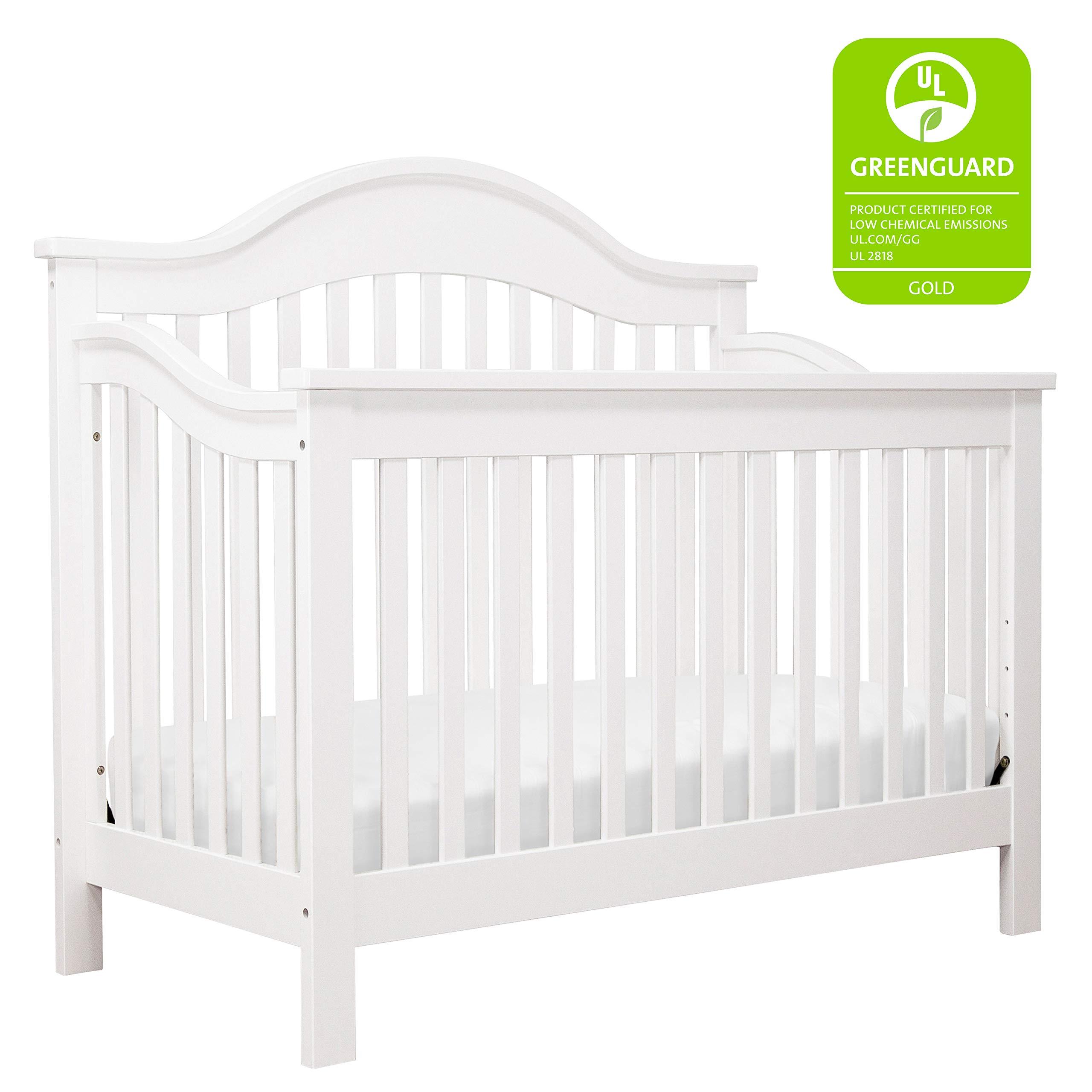 DaVinci Jayden 4-in-1 Convertible Crib in White   Greenguard Gold Certified by DaVinci