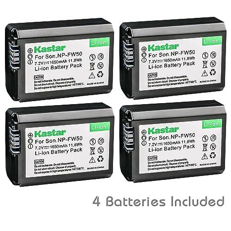 Amazon.com: Kastar Batería (4-Pack) para Sony NP-FW50, BC ...