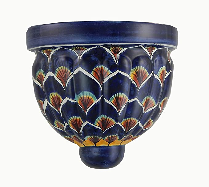 Ceramic Mexican Talavera Small candle holder Handmade Pottery
