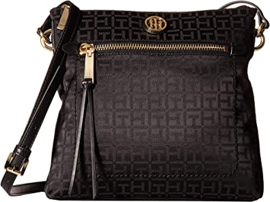 Tommy Hilfiger Womens Shannon Crossbody Black Tonal One Size: Handbags: Amazon.com