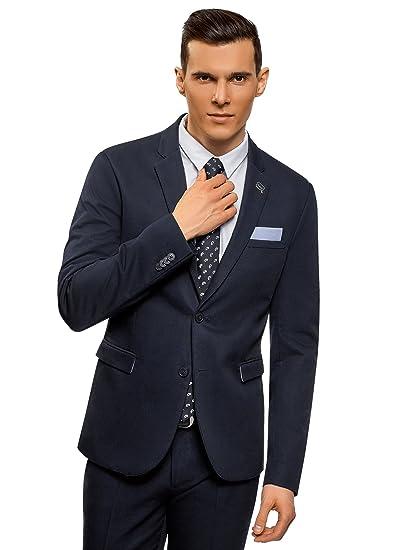 oodji Ultra Uomo Blazer Slim Classico  Amazon.it  Abbigliamento ba473df1d25