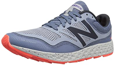New Balance Men's Fresh Foam Gobi Running Shoe, Dark Porcelain Blue/Alpha  Orange,