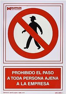 Wolfpack 15051275 Cartel Prohibido Fumar 30x21: Amazon.es ...