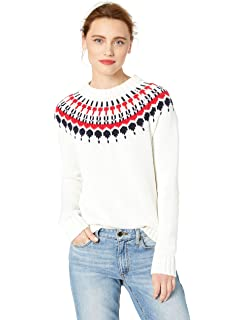 65b9c8f386759 Superbaby Women s Tribal Pattern Fair Isle Crew Neck Loose Pullover ...