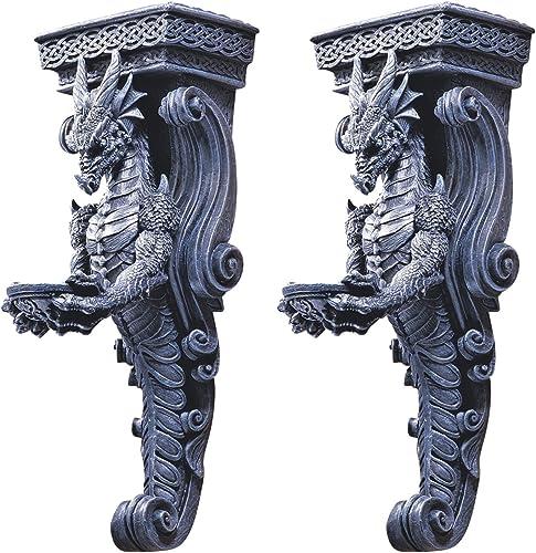 Design Toscano CL93826 Dragons of Darkmoor Castle Wall Caryatid