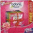 Odonil Air Freshener - Mystic Rose, 3 PiecesX75g, 1 Piece Free