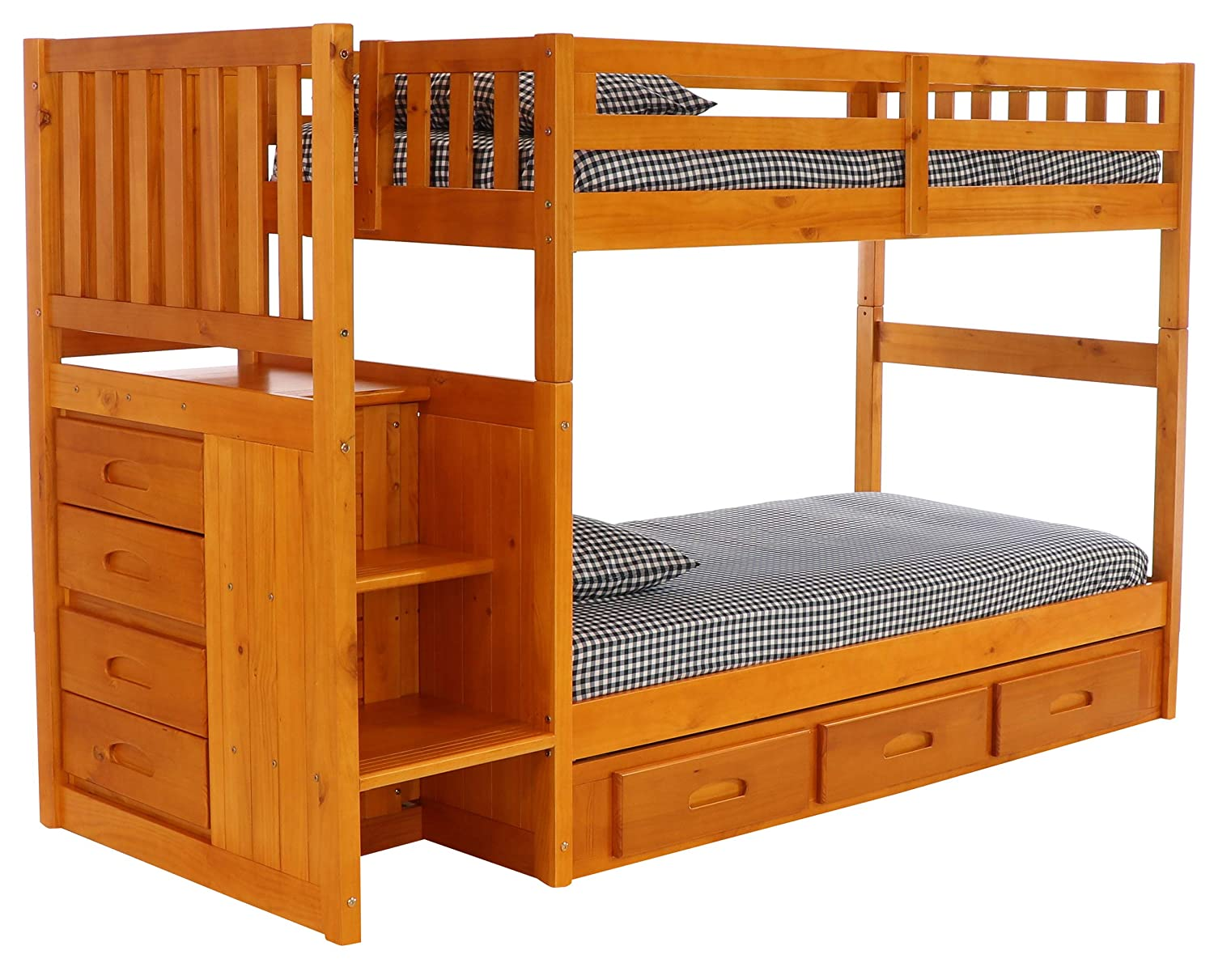 Amazoncom Discovery World Furniture Mission Twin Over Twin