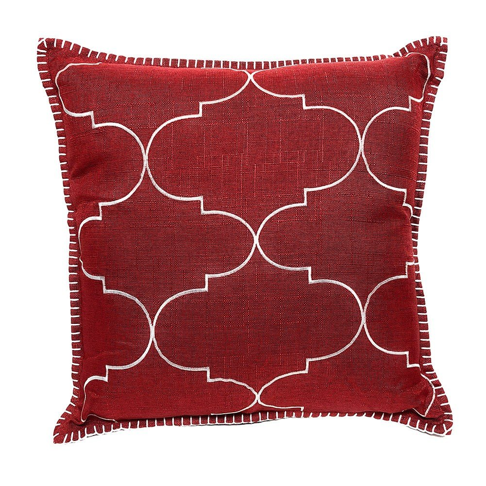Proud Clothing Maroon Throw Pillow