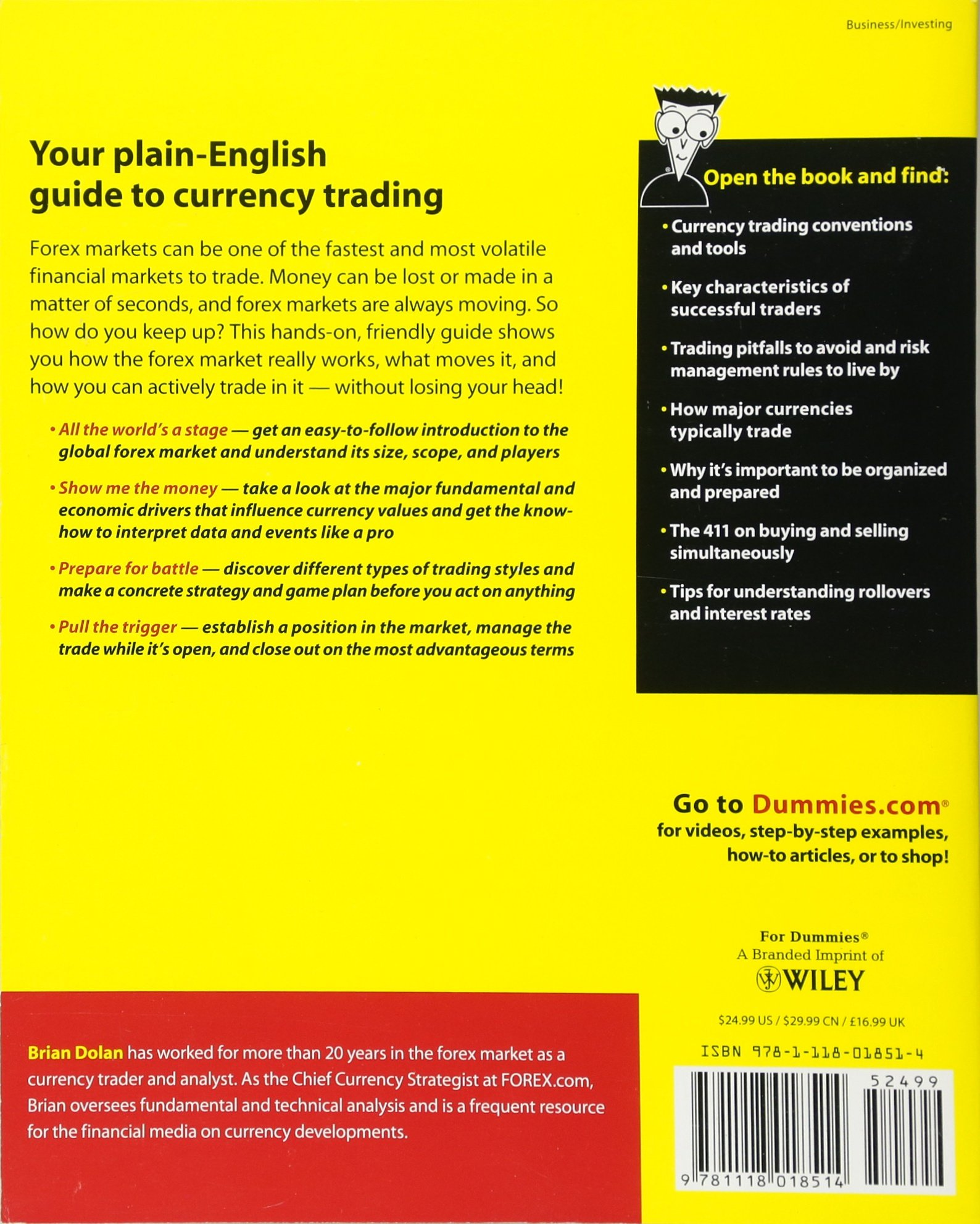 currency trading for dummies brian dolan 9781118018514 amazon com rh amazon com Currency Exchange Indian Currency