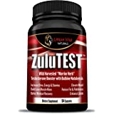 ZuluTEST True Warrior Herbal, All Natural Wild Harvested Testosterone Booster Supplement for Men, Ancient Formula Proven to Skyrocket Libido, Renew Energy, Accelerate Muscle & Burn Fat! Cycle 6 Weeks!