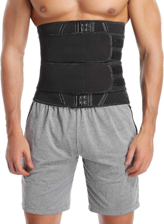 Details about  /Waist Trainer Tummy Trimmer Sauna Sweat Belt Body Shaper Men/'s Slim Shapewear