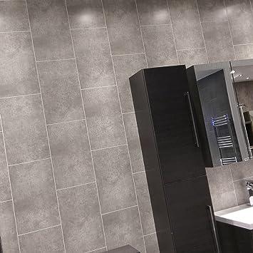 10 Stein Grau Fliesen PVC Wandtattoo Echten Schnitt Line Fliesen Effekt  Starke Struktur PVC Bad