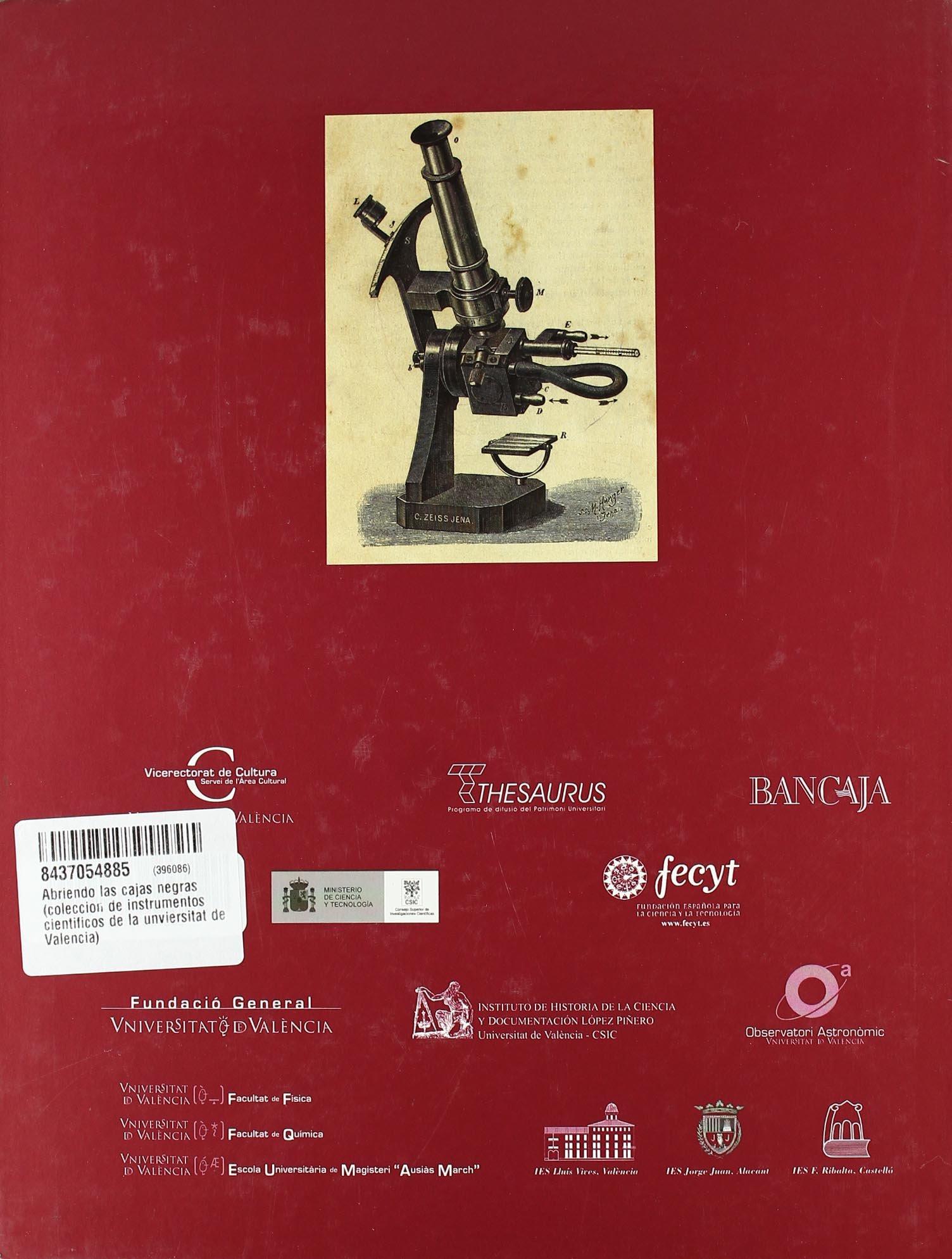 Abriendo las cajas negras : colección de instrumentos científicos de la Universitat de València: Amazon.es: José-Pío Beltrán Porter, Víctor Navarro Brotóns, ...
