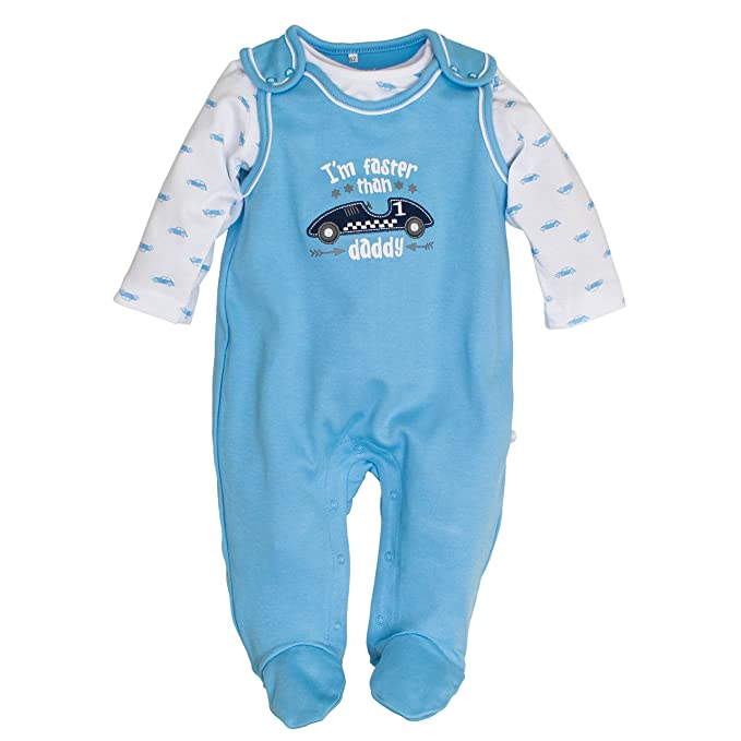 Salt and Pepper NB Playsuit Racer Uni, Pelele Unisex bebé, Azul (Sky Blue 414), 56 cm: Amazon.es: Ropa y accesorios