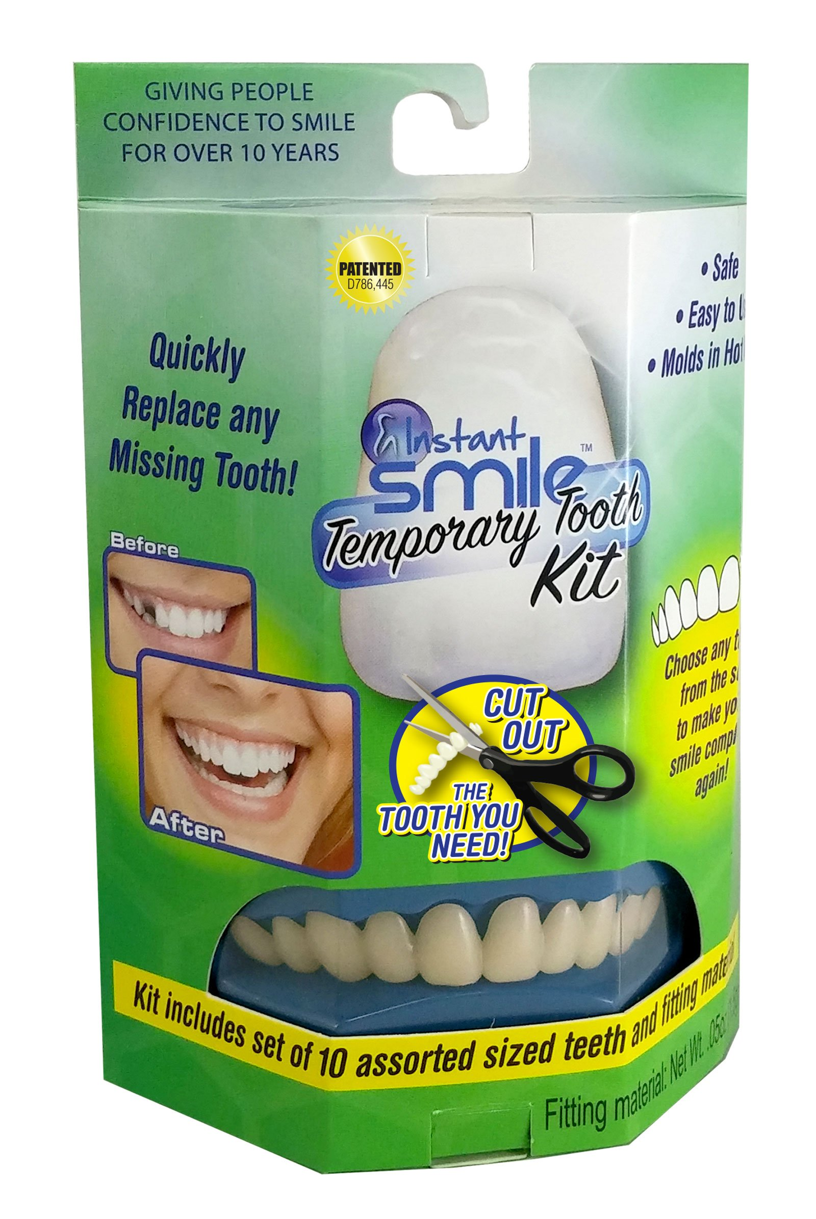 Amazon temptooth 1 seller trusted patented temporary tooth instant smile temporary tooth kit replace a missing tooth in minutes does not stain solutioingenieria Choice Image