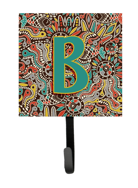 Small Multicolor Carolines Treasures CJ2013-BSH4 Letter B Retro Tribal Alphabet Initial Leash or Key Holder