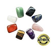Natural Healing Crystal Chakra Stones for Crystal Therapy, Chakra Healing, Meditation, Worry Stones, Relaxation, Decor. (8-pcs Chakra stones)