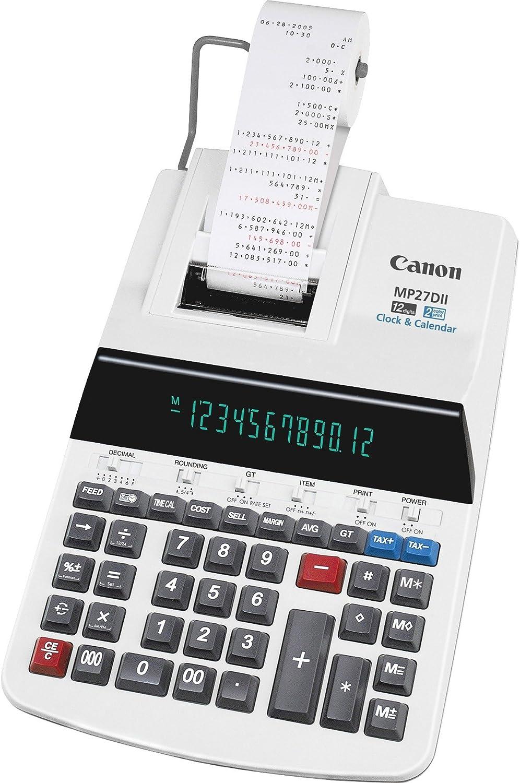 Canon Mp27Dii 12-Digit Calculator W/Printing 8-7/8-Inch X13-Inch X3-Inch Beige