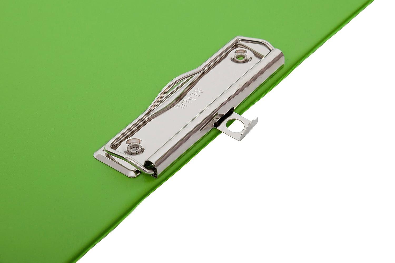 Lavagna per gesso con copertina in alluminio alta A4 verde chiaro