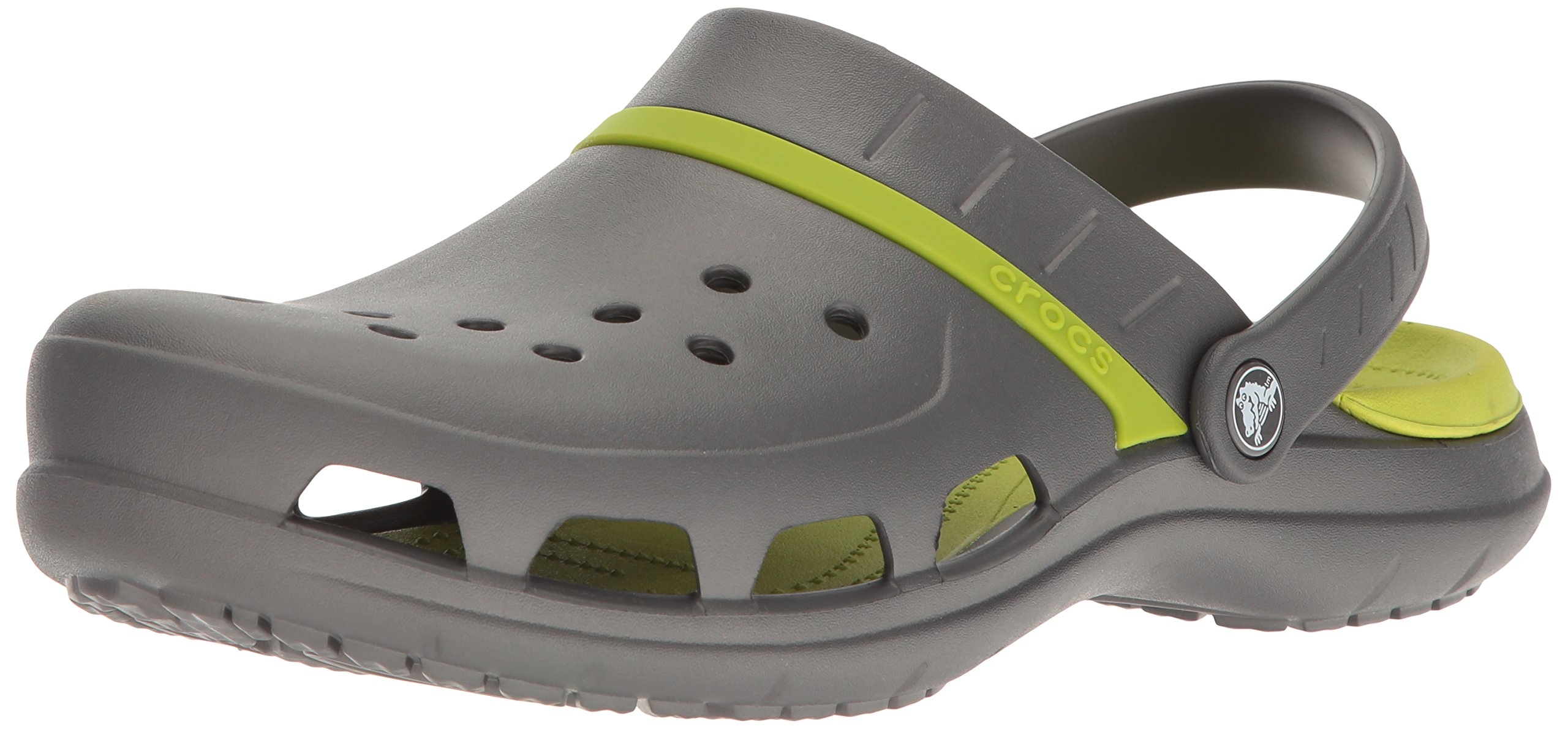 Crocs Unisex Modi Sport Clog Mule, Graphite/Volt Green, 13 US Men / 15 US Women by Crocs