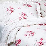 Simply Shabby Chic Sunbleached Pink Floral Twin Comforter