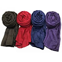 WANBAO 4 Pcs Women Scarves Shawl Keep Warm Scarf Wrap Scarves Fashion Shawls.