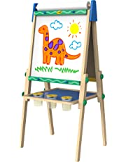 Crayola Kid's Wooden Easel, Dry Erase Board, Gift for Boys and Girls, Kids, Ages 3,4, 5, 6 and Up, Arts and Crafts