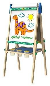 Crayola Kids Wooden Easel, Dry Erase Board & Chalkboard, Gift, Age 4, 5, 6, 7 (Amazon Exclusive)