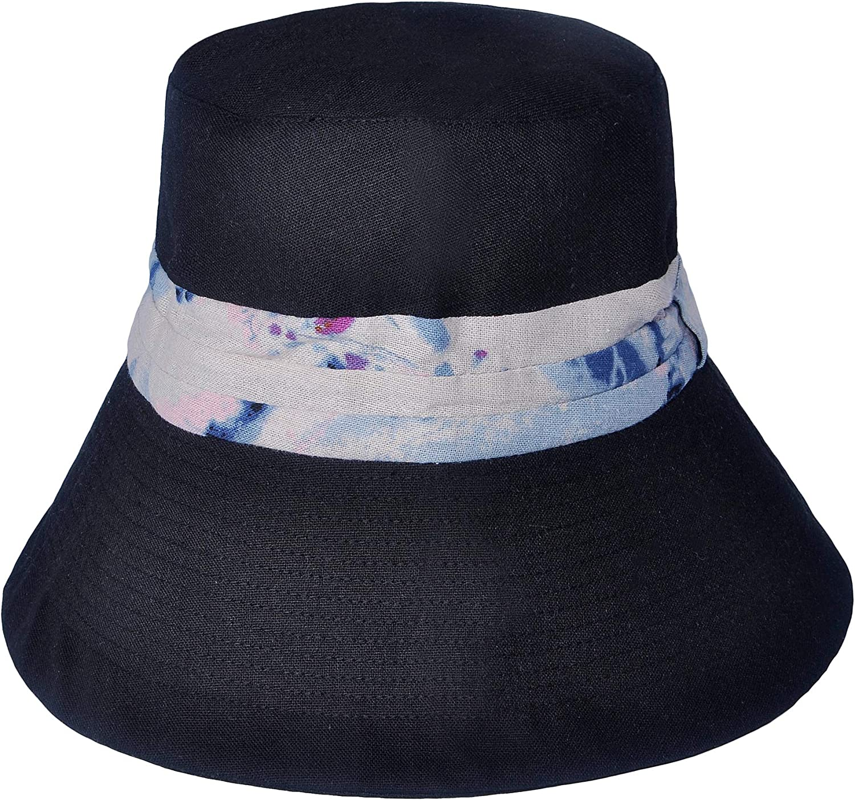 ZLYC Womens Fashion Wide Brim Bucket Hat Outdoor Packable Sun Hats