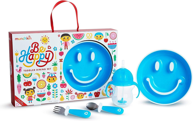 Munchkin Set De Alimentaci/ón Para Beb/és Be Happy Azul 1 unidad 710 g