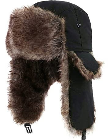 Yesurprise Trapper Warm Russian Trooper Fur Earflap Winter Skiing Warm Hat  Cap Women Men Unisex Windproof a0797c061ae