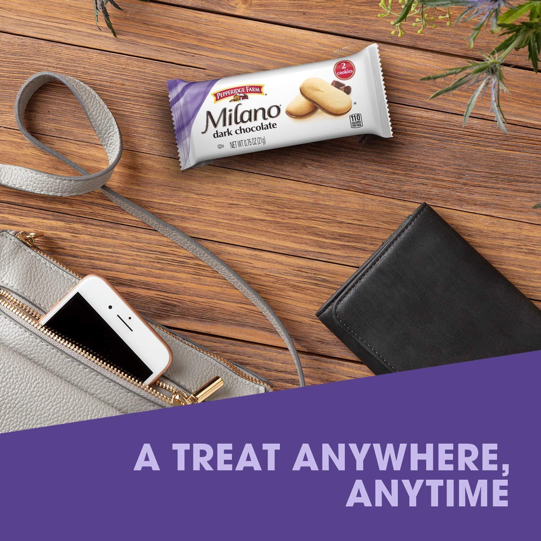 Amazon Com Pepperidge Farm Milano Dark Chocolate Cookies Multi Pack Tray 0 75 Oz Pack Of 10 Grocery Gourmet Food