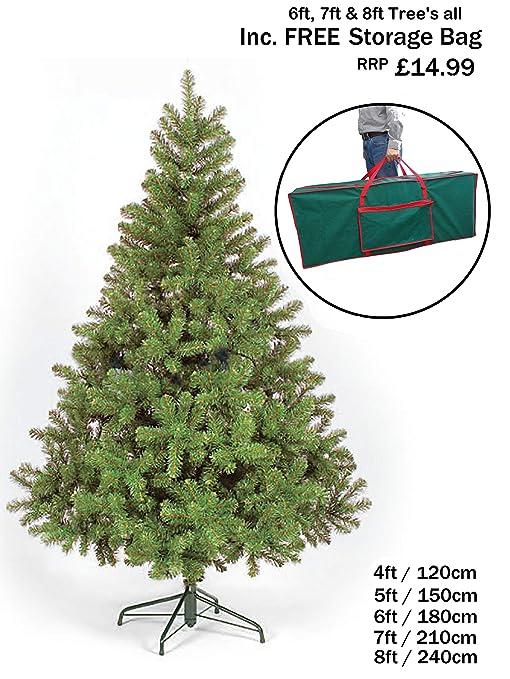 Artificial Christmas Trees Uk.New Colorado Green Artificial Christmas Tree 8ft Ct03239