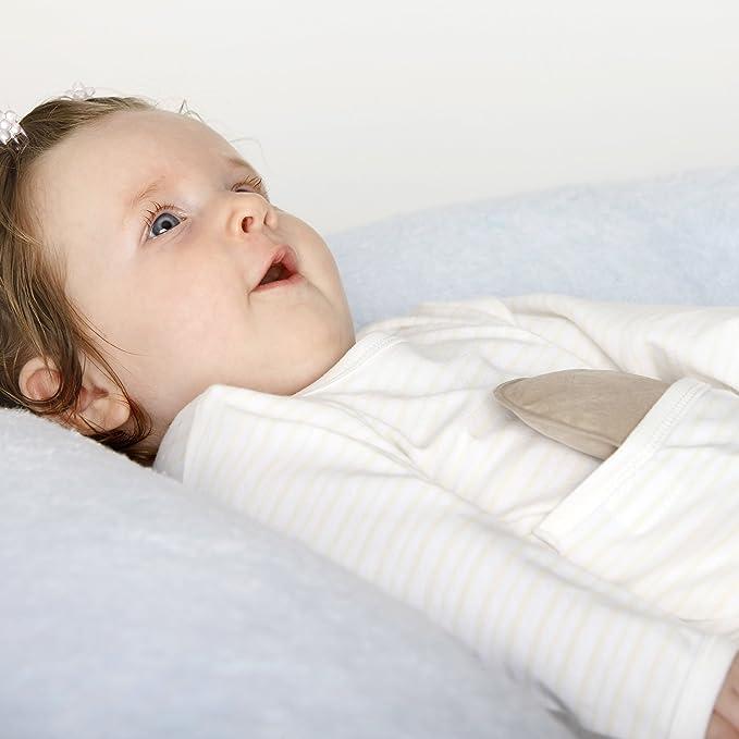 medibini Anti de vientre de camión de - Body para bebé de juego, manga larga con velcro de bolsillo canguro + nip de gel Moor wärmekisse (Alivia vientre, ...