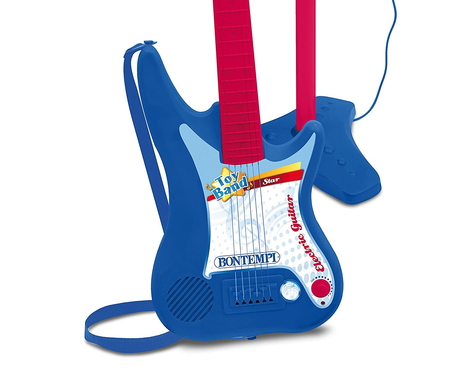 Bontempi - Guitarra eléctrica con Amplificador y micrófono con Soporte (Spanish Business Option Tradding 24 7540): Amazon.es: Juguetes y juegos