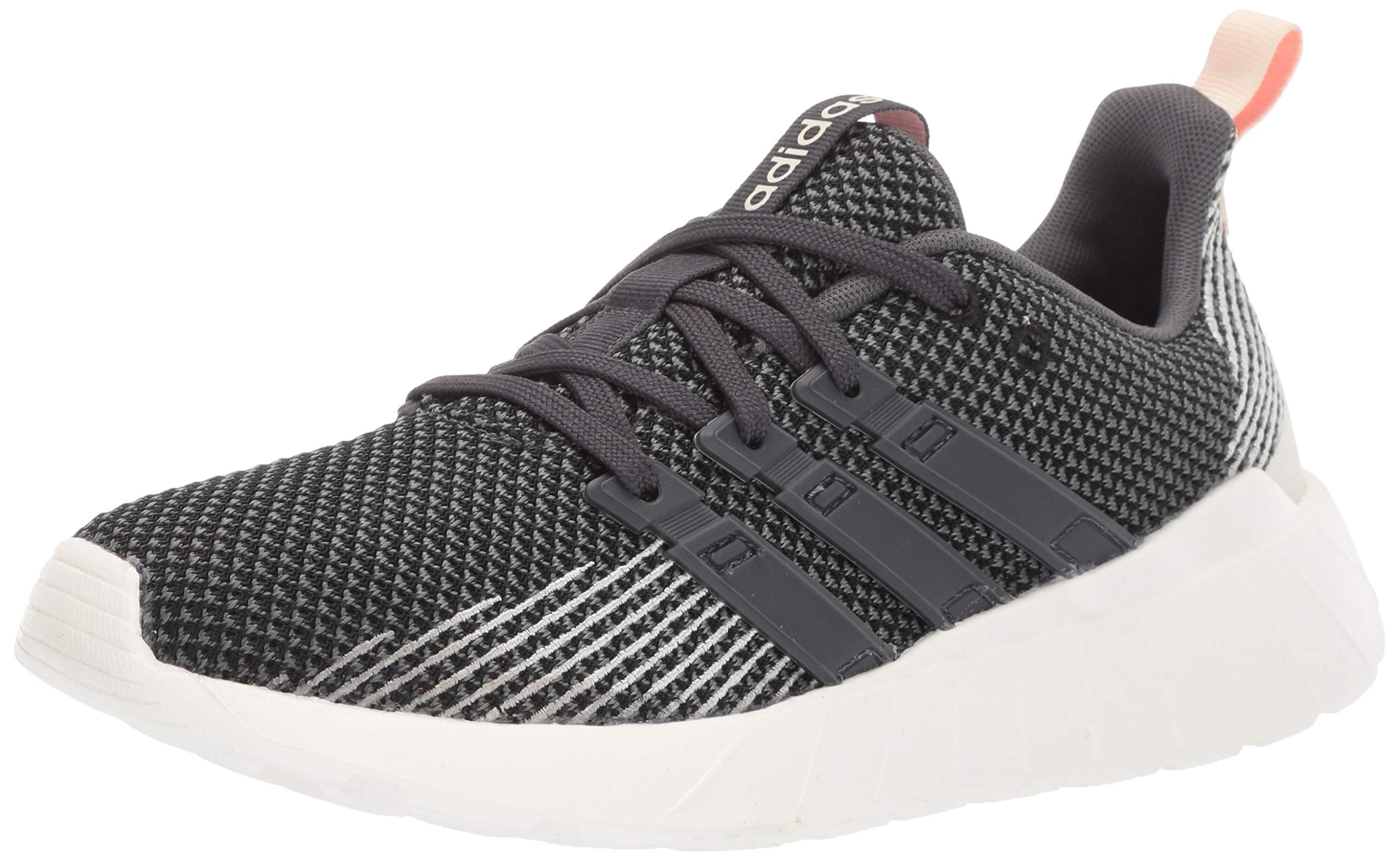 adidas Women's Questar Flow Running Shoe, Black/Grey/dust Pink, 8 M US