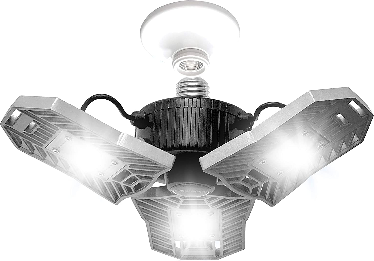 TRIBURST by Bell+Howell High Intensity Lighting with 144 LED Bulb, Multi-Directional Triple Panel Light for Indoor and Outdoor, As Seen On TV (Original)