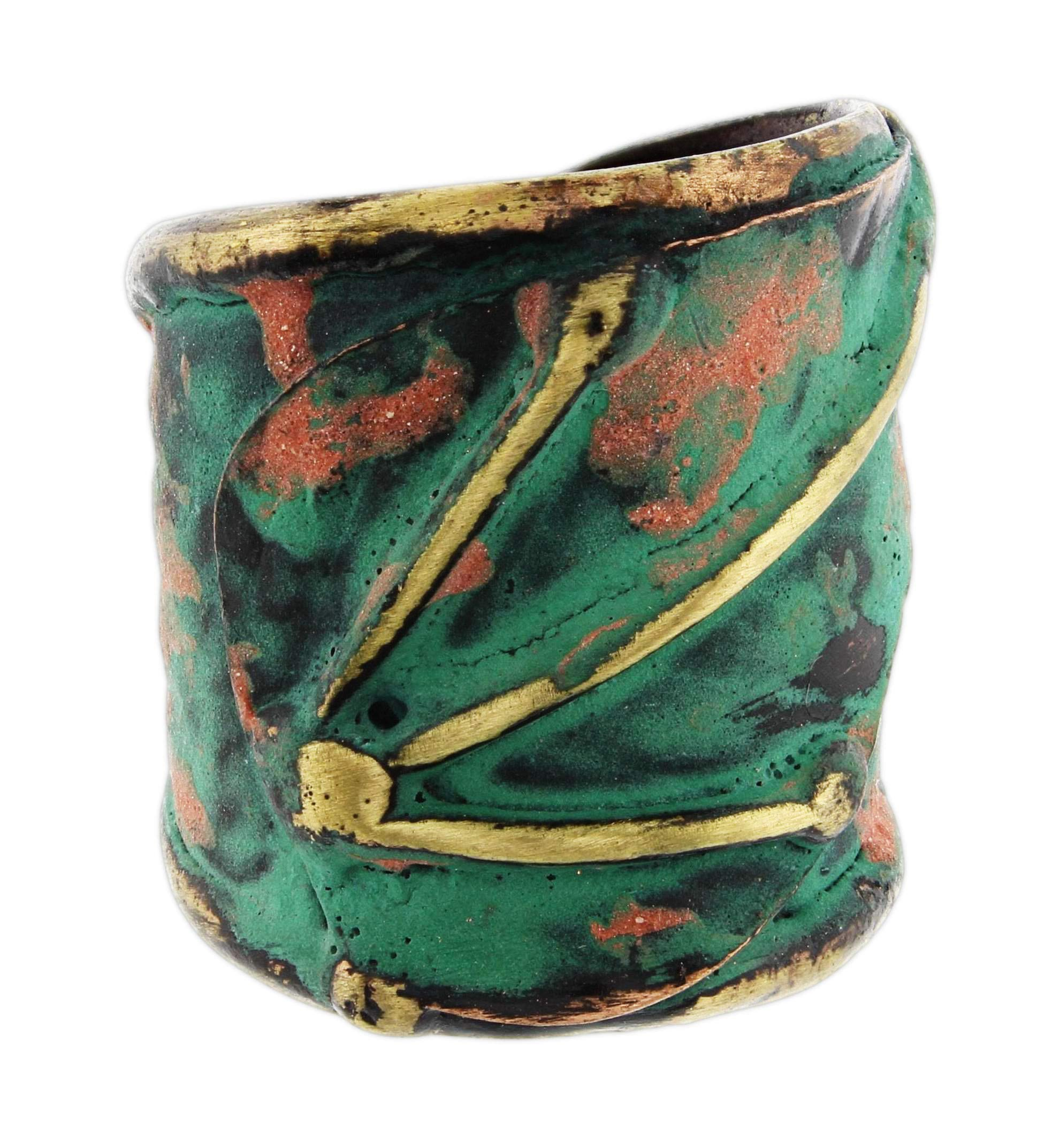 Anju Patina Cuff Ring Welded Mixed Metal Design (Aja)