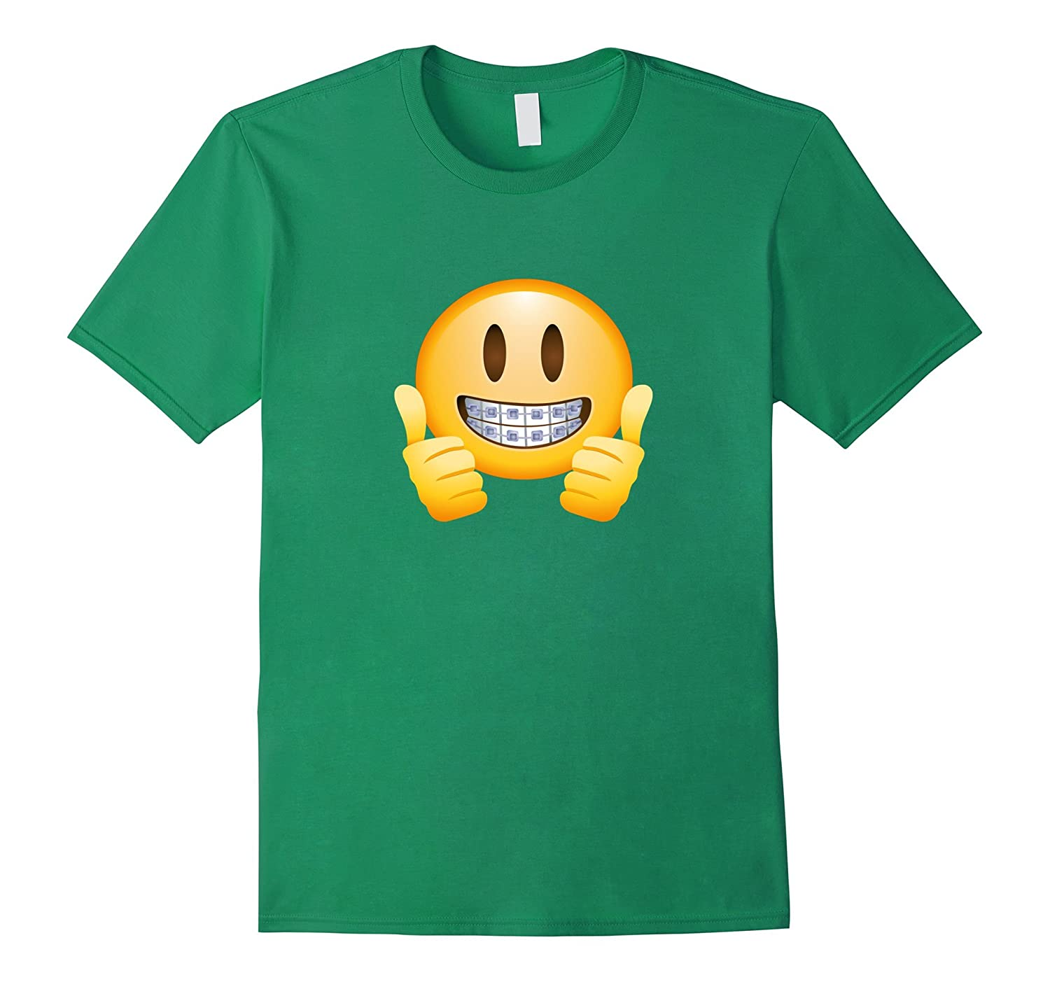 Braces Emoji T-Shirt Thumbs Up Smile Face Happy Mouth Teeth-ANZ ...