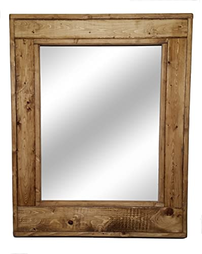 Amazon.com: Herringbone Large Mirror 24 x 30 Vertical Framed Mirror ...