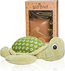 "WILD BABY Microwavable Plush Pal - Cozy Heatable Weighted Stuffed Animal with Aromatherapy Lavender Scent, 12"" Turtle"