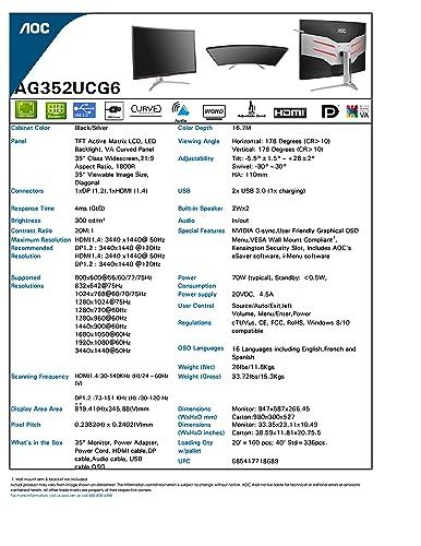 AOC Agon AG352UCG6 35