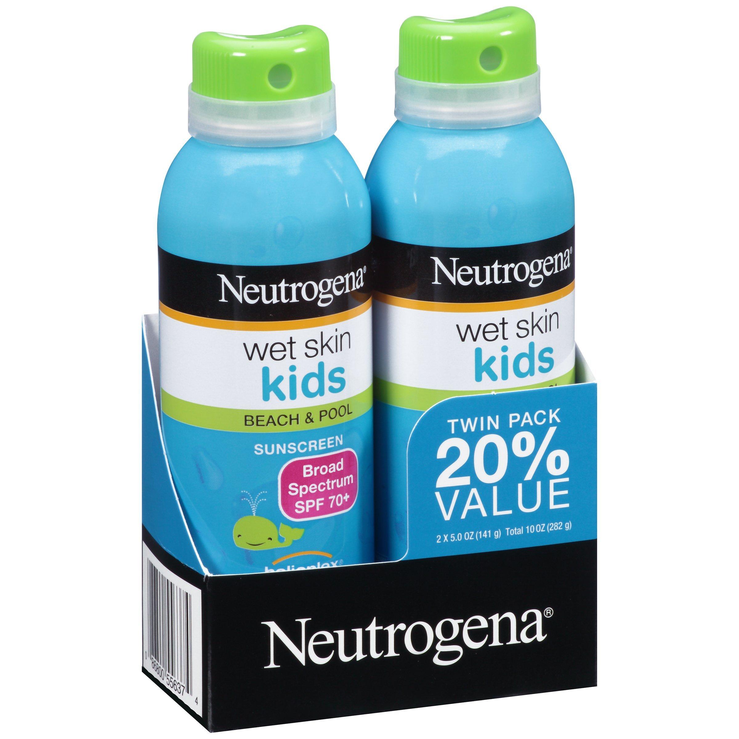 Neutrogena Wet Skin Kids Sunscreen Spray, Twin Pack by Neutrogena (Image #3)