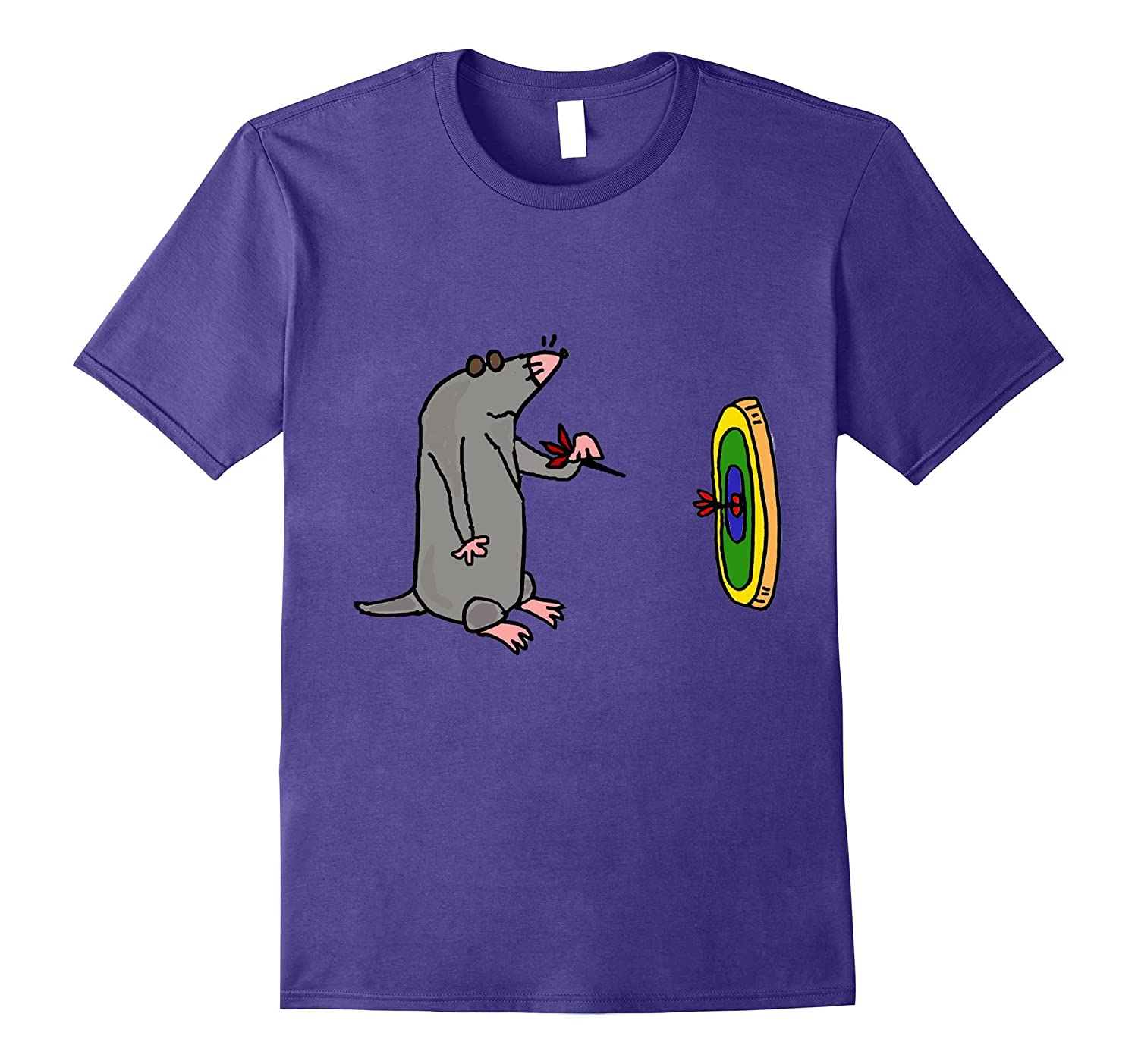 Smilealottees Funny Blind Mole Throwing Darts T Shirt Anz Anztshirt