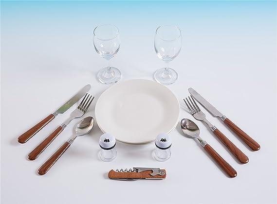 Calici da Vino Colore Bianco Antico 42x30x20 cm Coltello Multifunzione eGenuss Cestino da Picnic in Vimini per Due Persone Posate in Acciaio Inossidabile e Piatti in Ceramica Inclusi