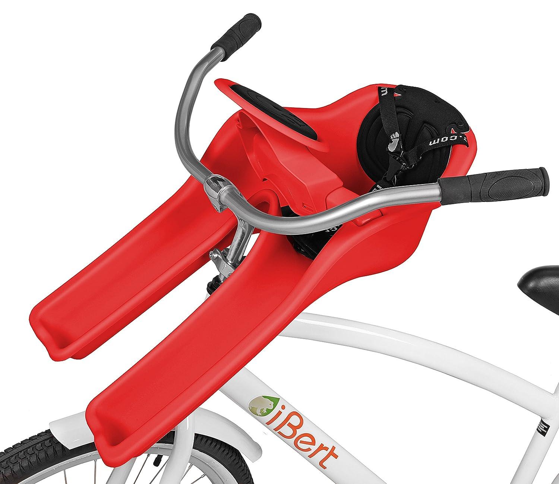 自転車用フロントチャイルドシート iBert(アイバート) safe-T-seat(セーフ T シート) レッド *正規輸入品   B01DQM0KEE