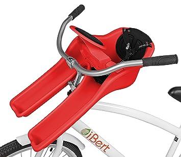 iBERT Sillín para Bicicleta de niño Safe-T-Seat, Unisex, Rojo